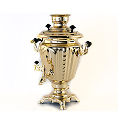 "Brass samovar ""Glass"" 3 liters"