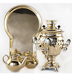 "Samovar ""Acorn"" 3 l brass set"