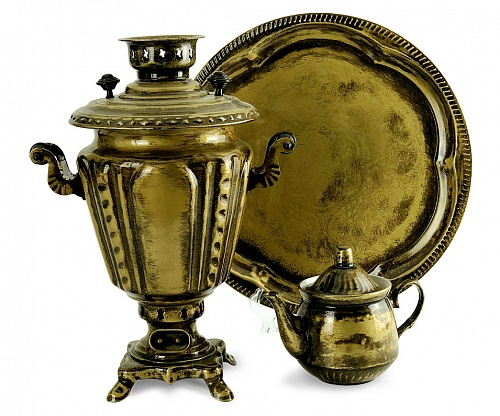 "Samovar 3 l in a set in the style of "" Antique"""