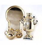 "Samovar ""Bank"" smooth 3 litres kit"