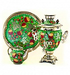 "Samovar 3 l ""Acorn"" in the set ""Apple orchard"" painting"