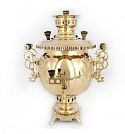 "Samovar 4.5 l combined form a ""Ball"" brass"
