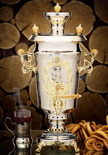 "Exclusive samovar ""Gold of Tula"""