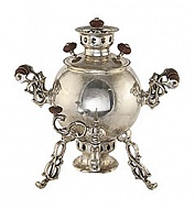 "Samovar ""spider"" with a silver 2.5 l"
