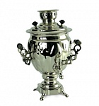 "3 Nickel plated brass samovar ""Acorn"" 220V"