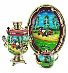"Samovar 3 l in the set "" Day in the Russian village"" 110V"