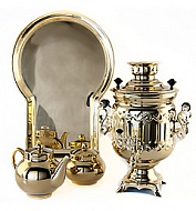 "The samovar is of the form ""the Bank"" 3 years in a set"
